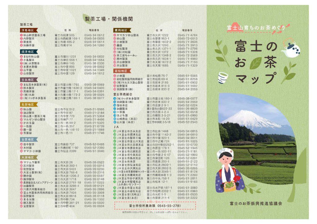 ▲ 製茶工場・関係機関の名称一覧